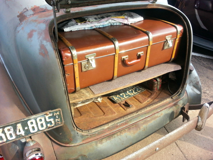 Old Suitcase, Old Car