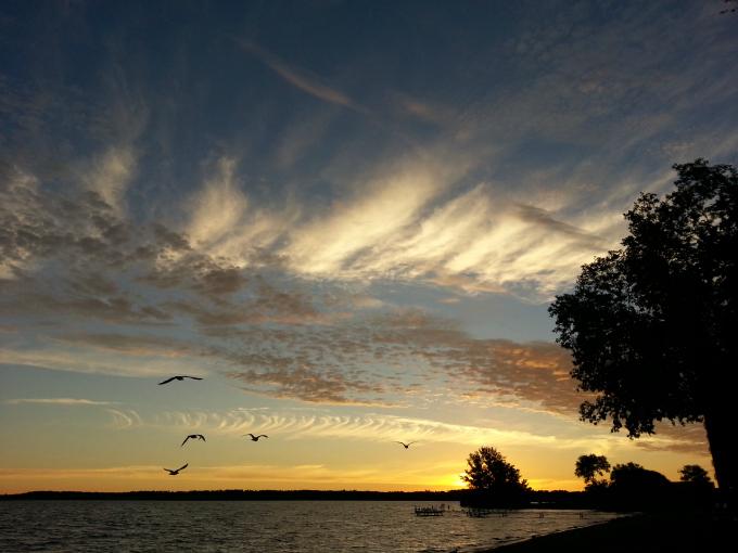 Sunrise at Lake Bemidji